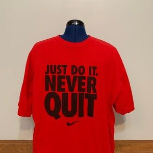 Nike Just Do It Red Loose Fit Tee Men's (XL)